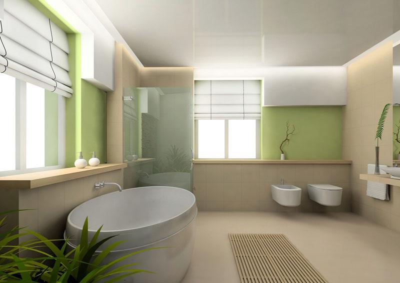 Badezimmer Grun Braun