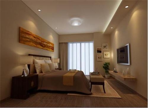 安華瓷磚仿木紋磚臥室效果圖
