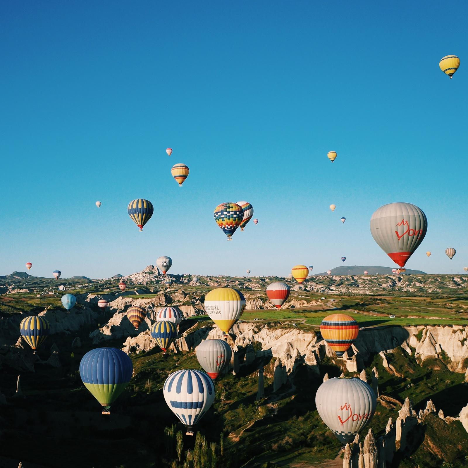 土耳其卡帕多西亚热气球美绝了