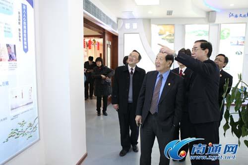 当代福尔摩斯李昌钰博士来南通市检察院授课