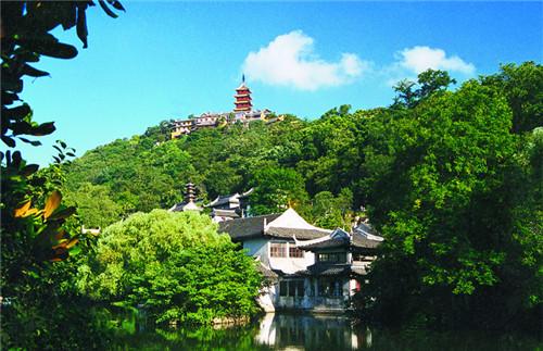 佛教名山 南通狼山 游天然山水盆景
