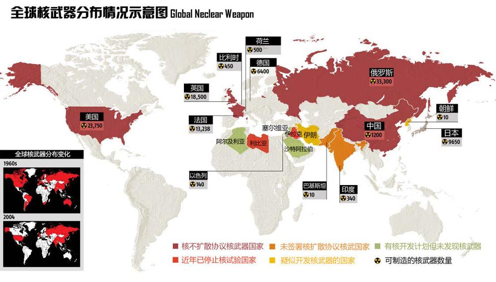 全球资讯_全球核武器分布图