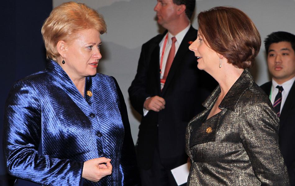 首尔核峰会的女领导人