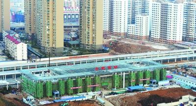 合肥西站主體結構基本封頂|西站|列車