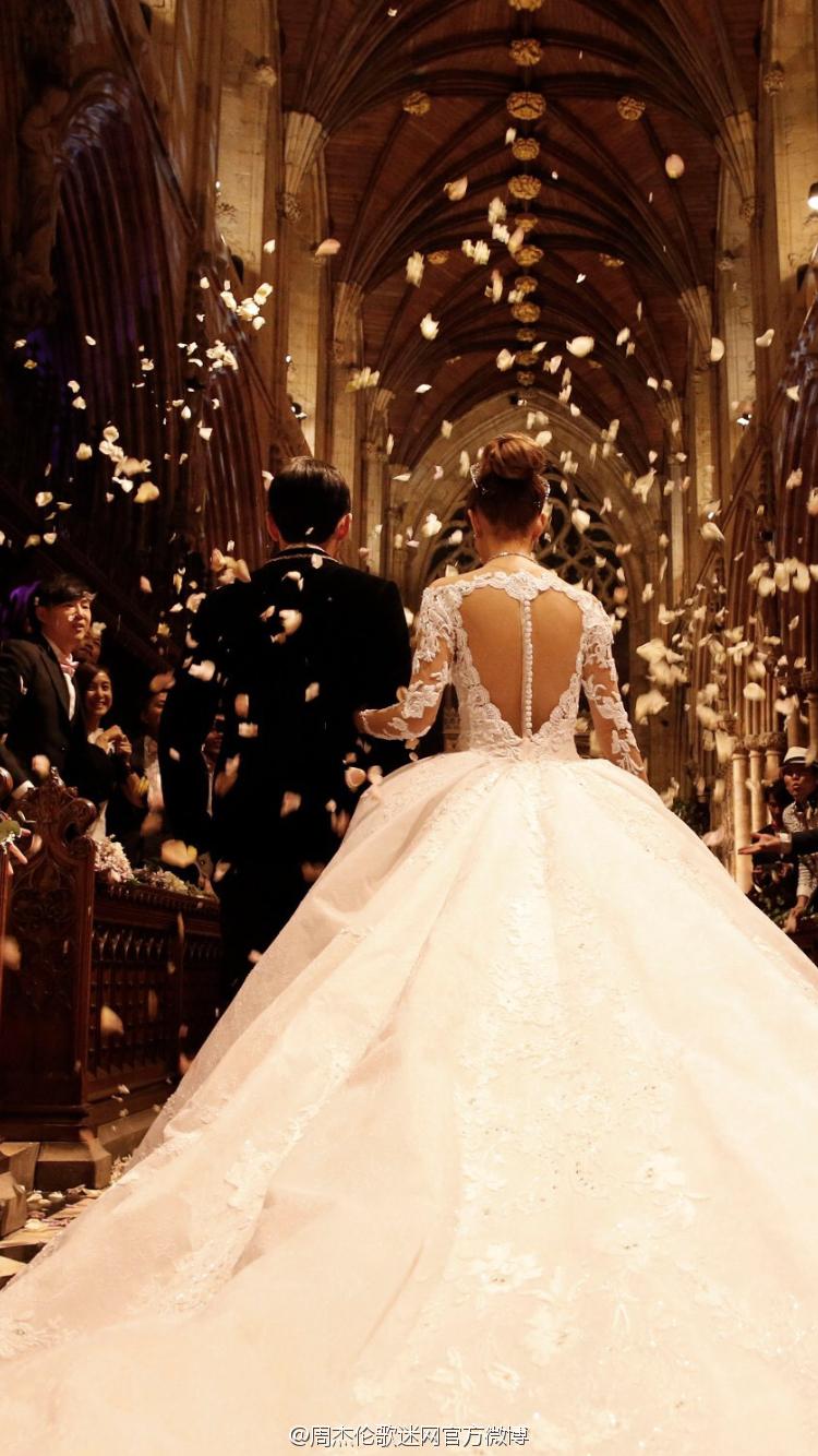 周杰伦的结婚照_婚礼现场