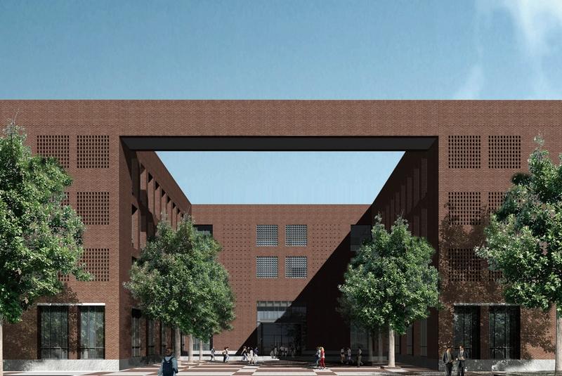 我校新校區行政管理中心設計方案初步確定