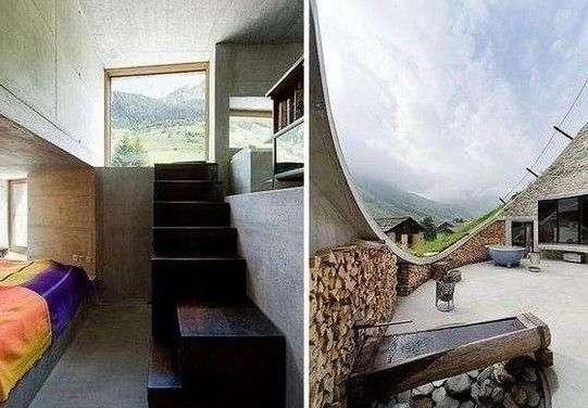 通過樓梯走廊直接通往室外露臺的