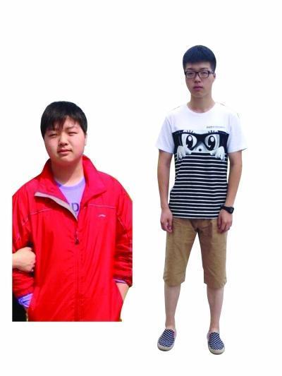男胖子减肥对比照片_男生减肥成功对比照片