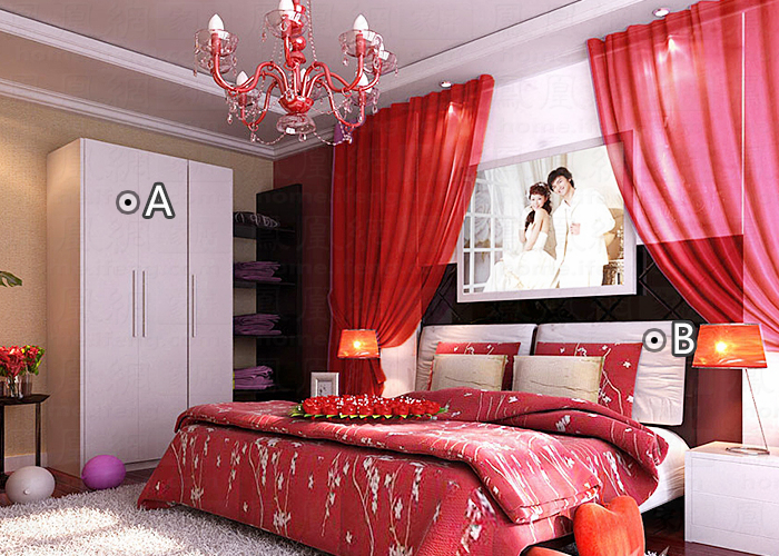 婚房卧室装修效果图
