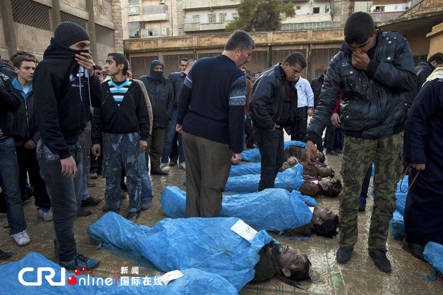 叙利亚死人图片_叙利亚阿勒颇发现65具尸体 均头部中枪双手被绑(高清组图)_科技 ...